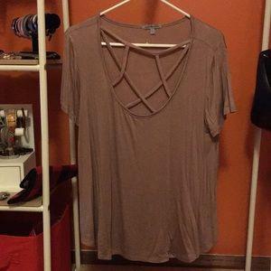 Criss cross detailed shirt